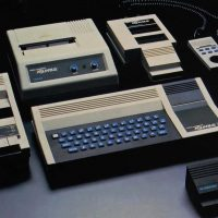 COM/PAC bundle for the Aquarius home computer by Mattel, makers of the Intellivision video game console, 1983