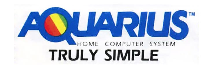 Logo and slogan for Aquarius, a home computer by Mattel, makers of the Intellivision video game console