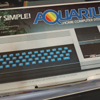 Box for Aquarius, a home computer system by Mattel Electronics 1983