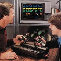 Promo shot featuring Space Armada, a game for the Intellivision video game console