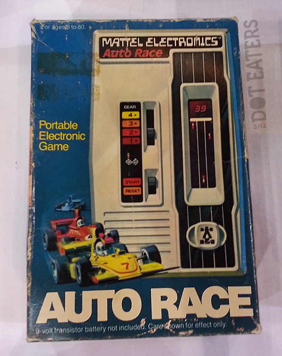 Auto Race, a handheld electronic game by Mattel Electronics 1976