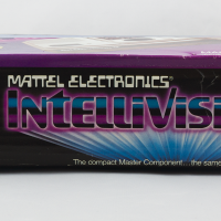 Side box art for the Intellivision II, a home video game system by Mattel 1982