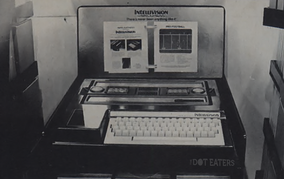 1979 Winter CES display of the Intellivision, a home video game and computer system by Mattel 1979