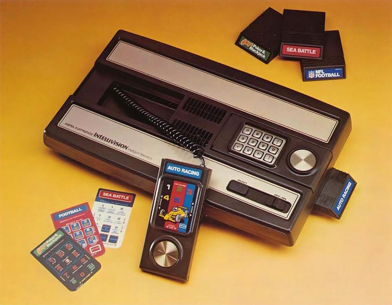 The Mattel Intellivision console video game