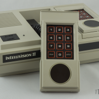 The Intellivision II, a home video game system by Mattel 1982