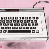 Computer Keyboard for ECS, a computer add-on for the Mattel Intellivision console video game