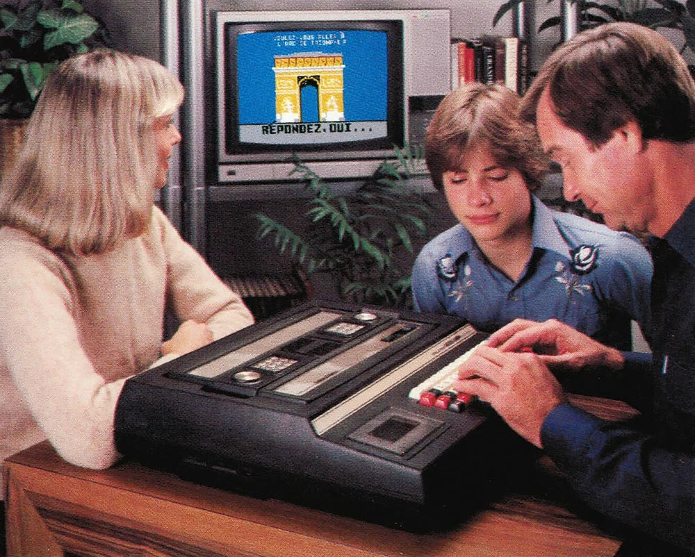 Promo shot of the Keyboard Component, a computer upgrade for the Intellivision video game console