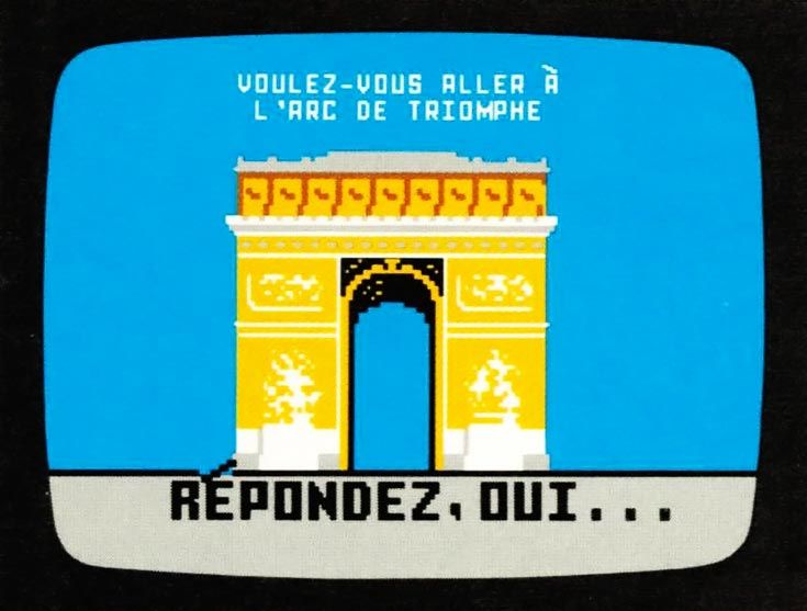 French learning program for the Intellivision, a video game console by Mattel