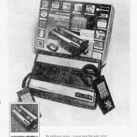 Mattel Intellivision video game console test marketed in Fresno, Dec. 1979