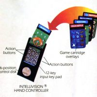 Instructions for the controllers for the Intellivision, a home video game system by Mattel 1982