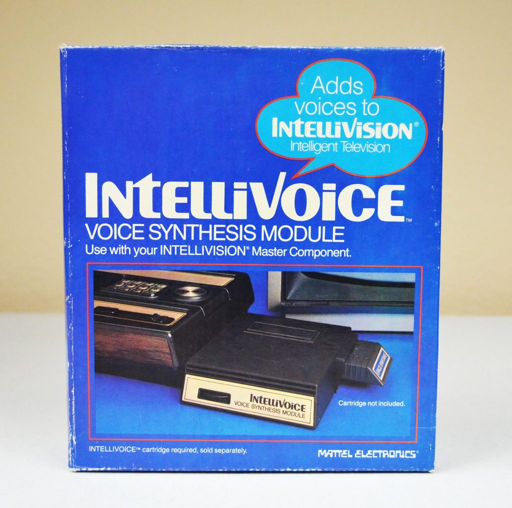 Intellivoice, a speech synthesis module for the Intellivision, a home video game console by Mattel