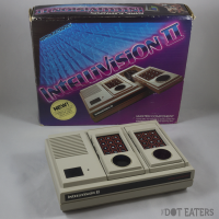 Intellivision II, a home video game console by Mattel, and box 1982