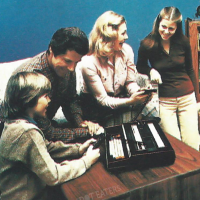1980 promo shot for the Keyboard Component, the computer add-on for the Intellivision video game system