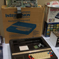 Box, motherboard and Keyboard Component, a computer add-on for the Intellivision, a home video game system by Mattel, test marketed only