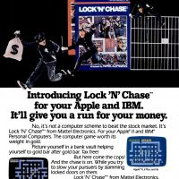 Lock 'N Chase, a video game adaptation for IBM PC and Apple computers, by Mattel Electronics