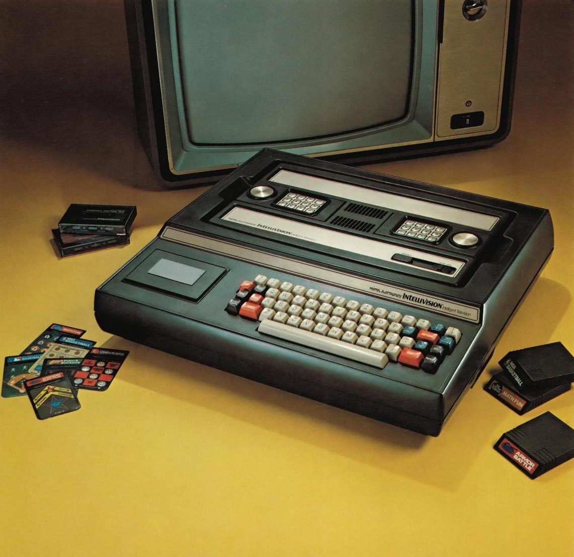 Keyboard and Master Component of the Intellivision, a video game system by Mattel