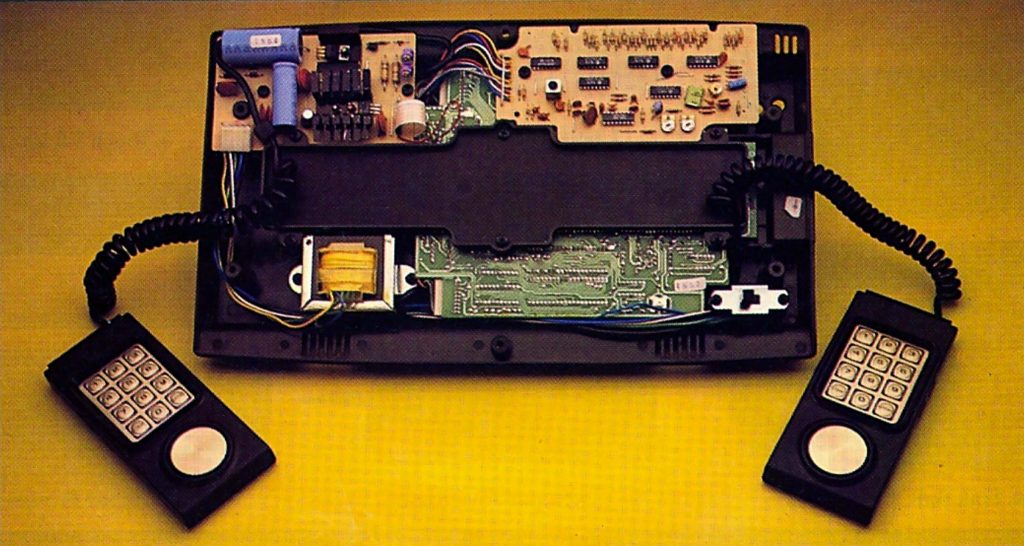 Internal view of the Mattel Intellivision video game console