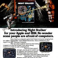 Night Stalker, a video game adaptation for IBM PC and Apple computers, by Mattel Electronics