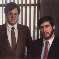 Jim Wiesenberg and Gary Smith of PlayCable, a system to distribute Intellivision video games via Cable TV, 1983