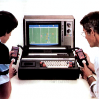 Promo shot of the Intellivision, a video game system by Mattel