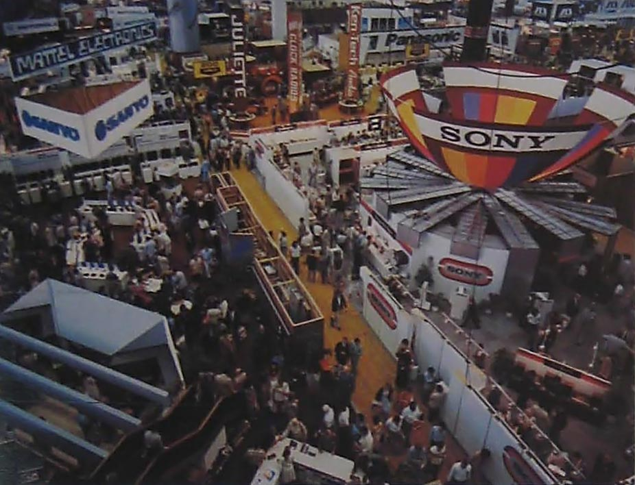 1979 Summer CES booth for Mattel Electronics, makers of home video game console Intellivision