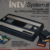 Box for the System III, a home video game system by INTV, 1985
