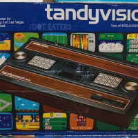 Box for the Tandyvision One, a home video game system sold in Radio Shack stores, 1980.