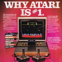 An ad for the VCS/2600, a home video game console by Atari 1977
