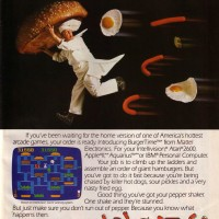 An ad for Burgertime, a video game for the Intellivision 1983