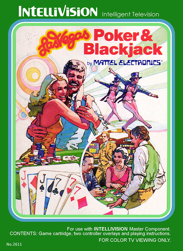 Las Vegas Poker and Blackjack, a video game for the Intellivision by Mattel 1980