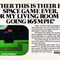 Ad for Star Strike, a video game for the Intellivision by Mattel 1981