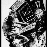 Space Invaders cartoon