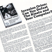 Ad for Invasion Orion, a computer game by Automated Simulations/Epyx 1981