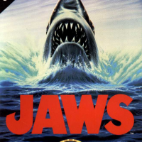 Jaws, a video game based on the Steven Spielberg movie, for the C64 home computer 1989