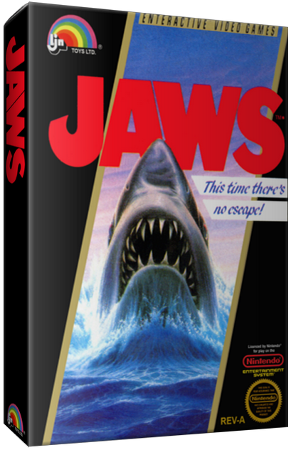 Jaws, a video game for the NES video game console, 1987