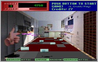 Screenshot from Exterminator, an arcade video game by Gottlieb 1989
