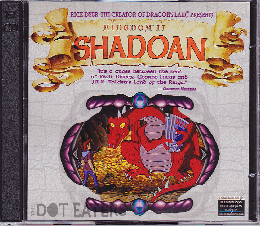 Disc case for Kingdom II: Shadoan, a computer game by Virtual Image Productions 1998