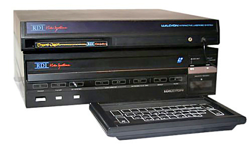 Photo of the Halcyon home laserdisc video game system by Rick Dyer, 1985