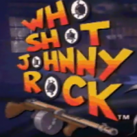 Title screen for Who Shot Johnny Rock?, an arcade laserdisc video game by American Laser Games 1991