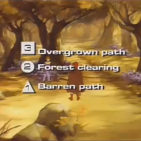 Screen from Thayer's Quest, an arcade laserdisc video game by RDI 1984