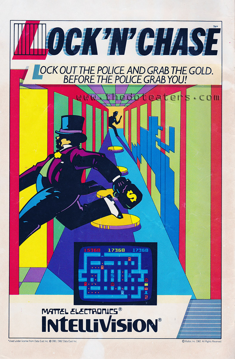 Ad for Lock 'N' Chase, a video game by Mattel Electronics 1983