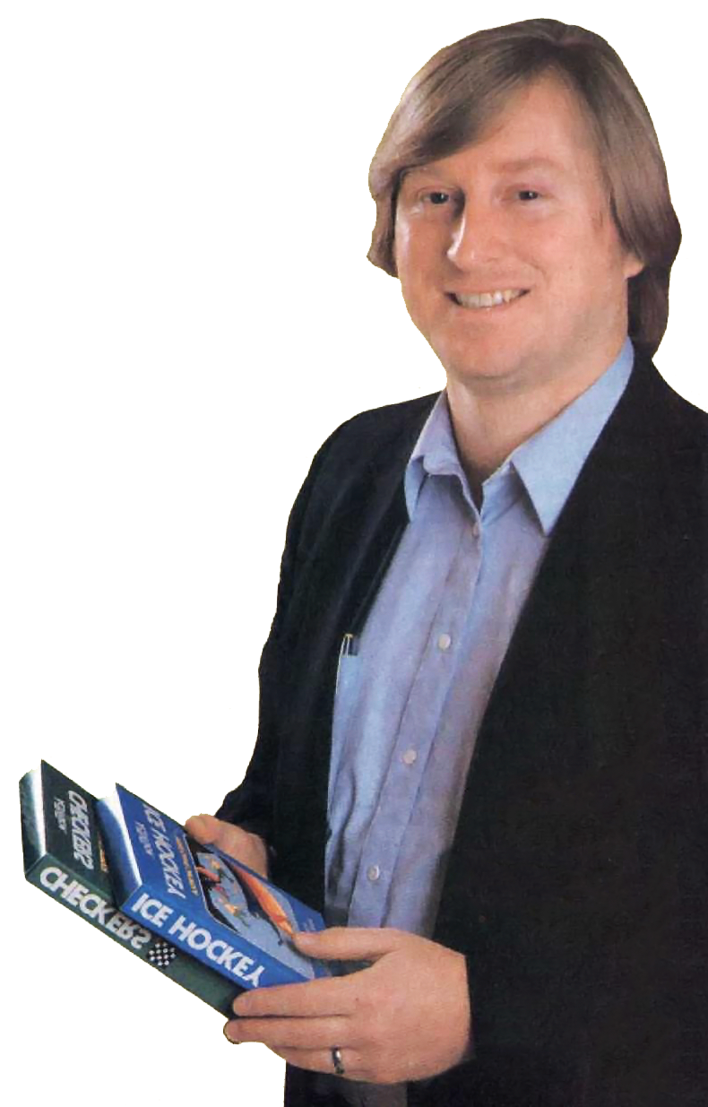 1982 image of Activision video game designer Alan Miller, creator of Atari Basketball