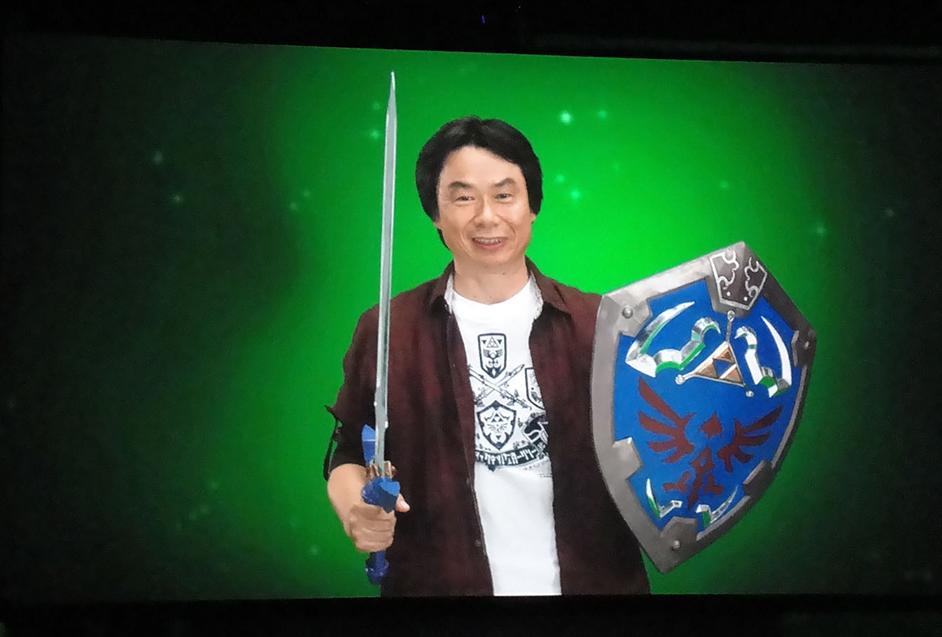Image of Shigeru Miyamoto at the 2010 E3