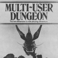Cover for Century version of MUD, an online computer role playing game, 1984