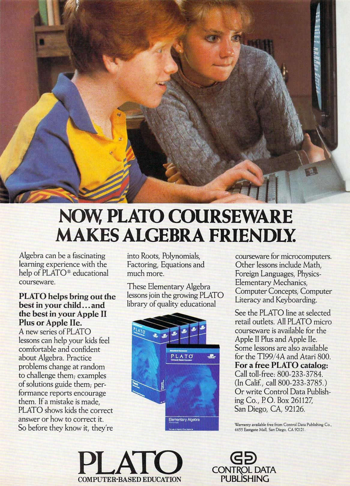 Plato, educational software for computers