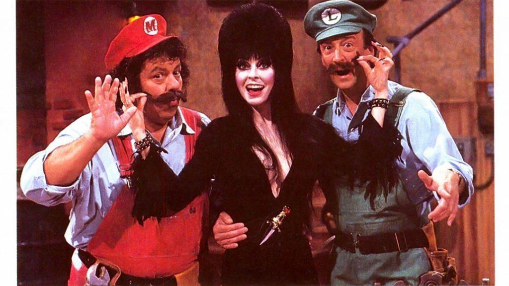 Mario, Elvira and Luigi on the Super Mario Bros. Super Show