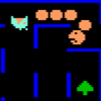 Screenshot of K.C.s Crazy Chase, a video game by Magnavox 1981