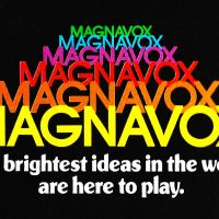 Logo for Magnavox, makers of the Odyssey 2 video game console
