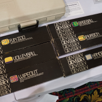 Game boxes for Odyssey, a home video game system by Magnavox 1972
