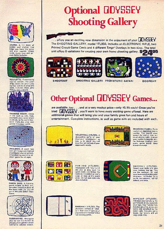 A scan of a Magazine ad for Odyssey